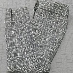 Loft black and white pants